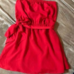 Express strapless summer dress